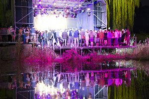 Concert stage in the pond