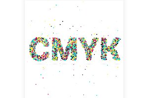 CMYK consisting of colored particles
