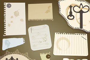 vector scrapbook design elements: vi