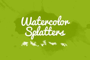 32 Watercolor Splatters