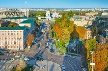 Skyline of Kiev Old Town