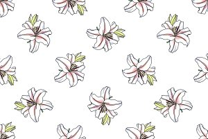 Vector lilly pattern