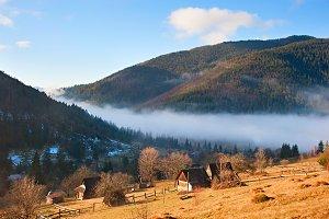 Transcarpathian Mountains village