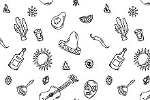 pattern vector set of mexican