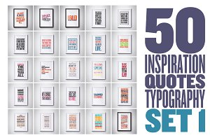 50 inspiration quotes set