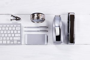 Silver Color Desktop Objects