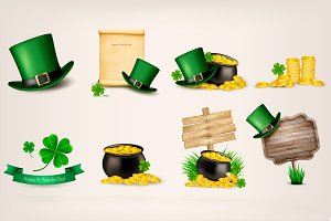 Set of St.Patrick's Day related icon