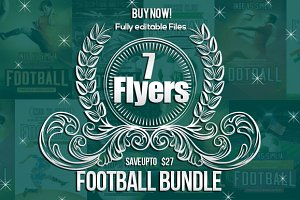 7 Soccer FootBall Match Flyer Bundle