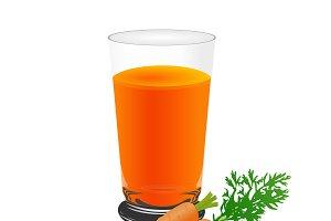 carrots, juice, cup