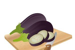 eggplant, vector