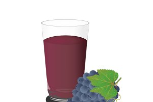 grape juice, vector