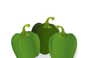 green peppers, vector