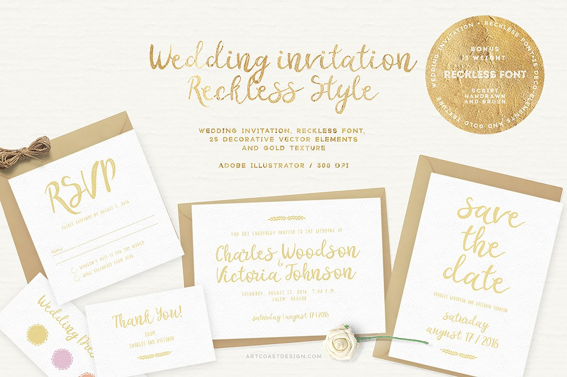 Wedding Invitation - Reckless Style ~ Invitation Templates ...