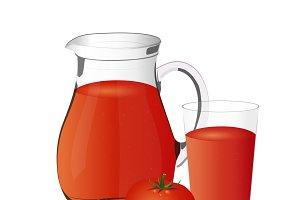 tomato juice, vector