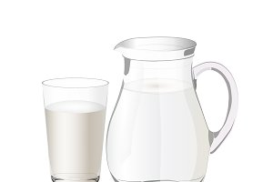milk, pitcher, vector