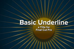 Basic Underline title for FCPX