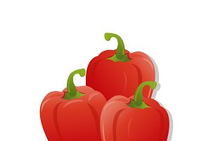 red peppers, vector
