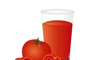 tomato, juice, vector