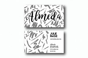 Artistic Brush Pattern Business Card