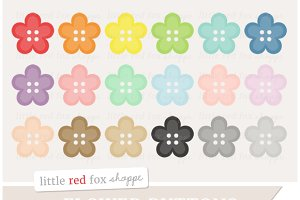 Flower Button Clipart