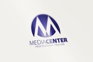 Media Center-M Letter Logo