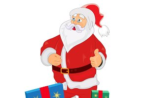 Santa Claus, gifts, vector