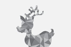 TRiangle raindeer, Christmas