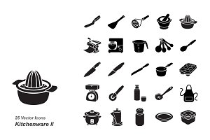 Kitchenware II vector icons