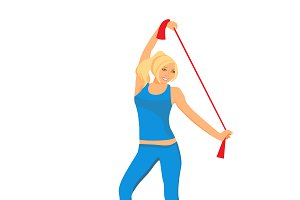 fitness woman, sport, vector