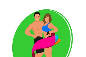 fitness, sport, work out, vector