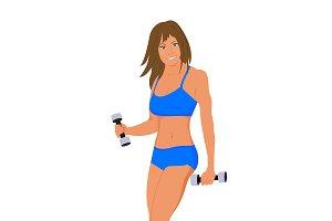 fitness, sport, vector