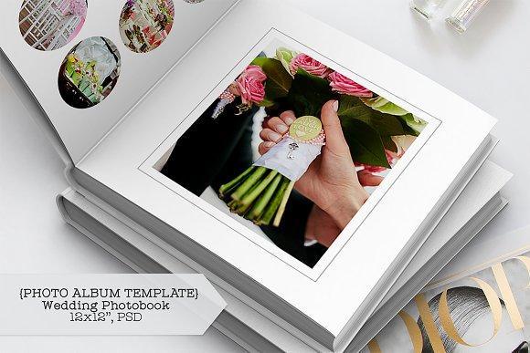 wedding album template templates creative market