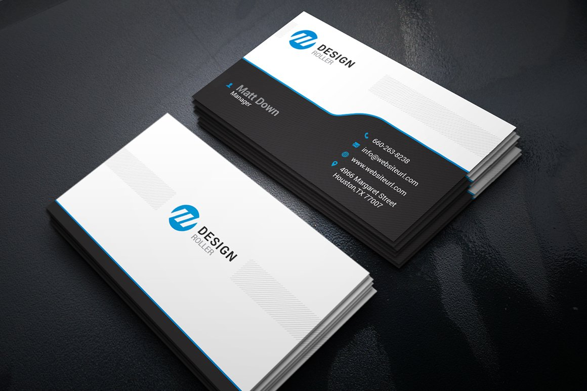 Simple business card template business card templates for Photo business card template
