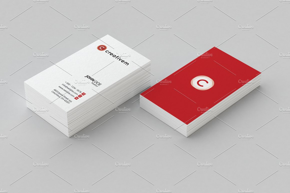 Minimal Business Card Template 1 ~ Business Card Templates ...