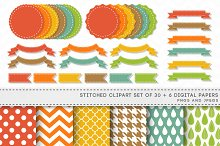 Stitched Banners Ribbons Labels