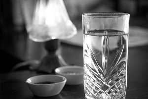 Vintage water glass