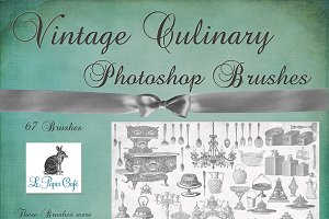 Vintage Culinary Photoshop Brush Set