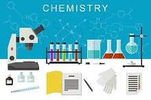Chemistry flat banner