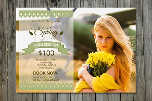 Spring Mini Session Template-V228