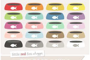 Pet Food Bowl Clipart