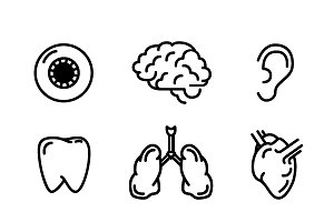 Nine icons of humans organs