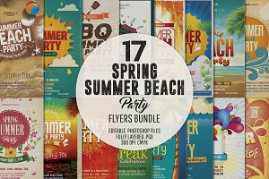 Spring Summer Party Flyer Bundle