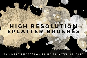 99 Hi Res Paint Splatter Brushes