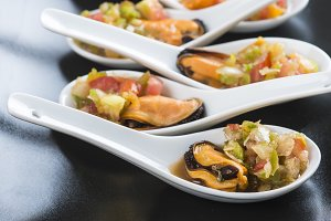 Mussels vinaigrette for a good appetizer