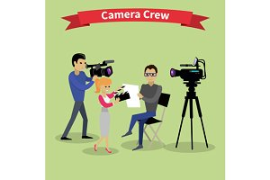 Camera Crew Team People Group
