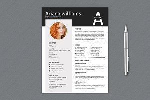 Professional Resume Template | V016