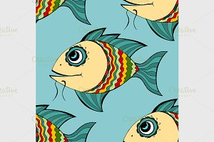 Seamless fish background.