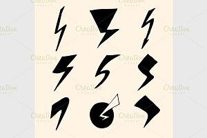 flash symbols
