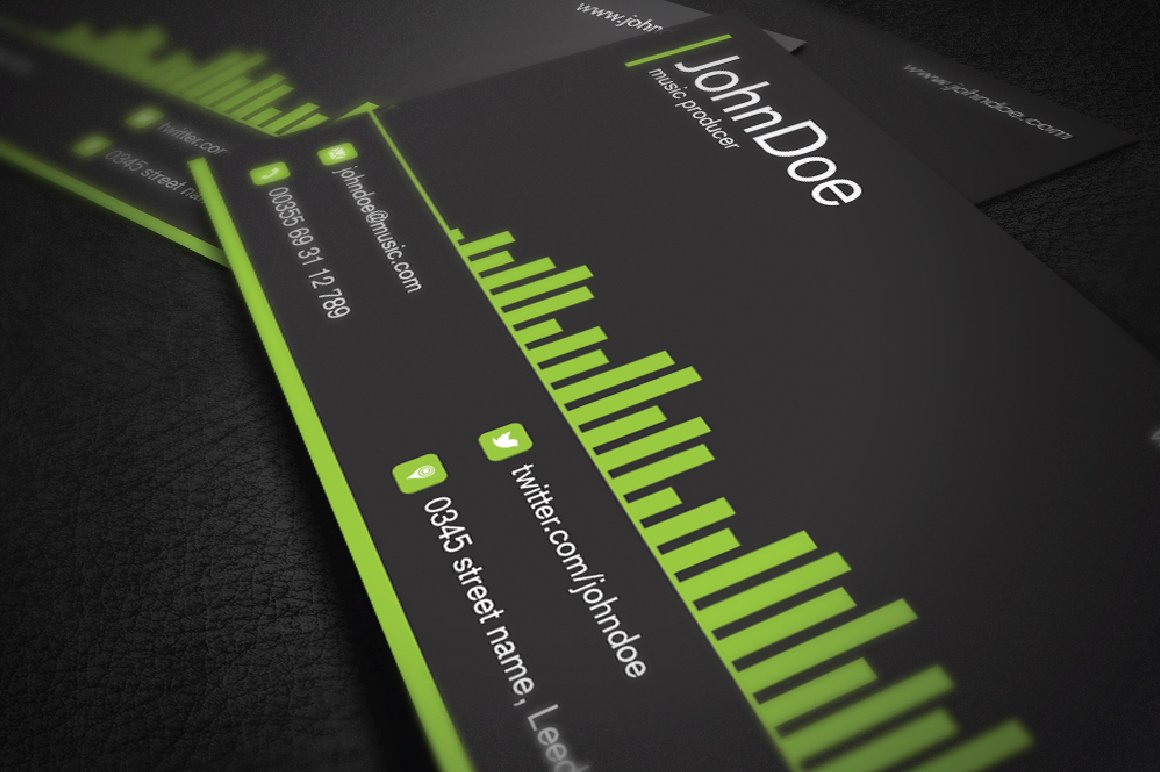 Music business card business card templates creative market magicingreecefo Images