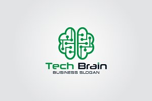 Technology Brain Logo